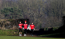 Fabian Giefer of Bristol City walks out to trainingtakes part in training with new teammates Ivan Lucic and Frank Fielding - Mandatory by-line: Robbie Stephenson/JMP - 19/01/2017 - FOOTBALL - Bristol City Training Ground - Bristol, England - Bristol City Training