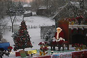 """Santa ends the 5th annual Stuarts Draft Christmas Parade that included nearly 100 entrees proceed down Draft Avenue the evening of December9, 2017. The title for this year's parade is, """"Share the Joy of Giving."""""""