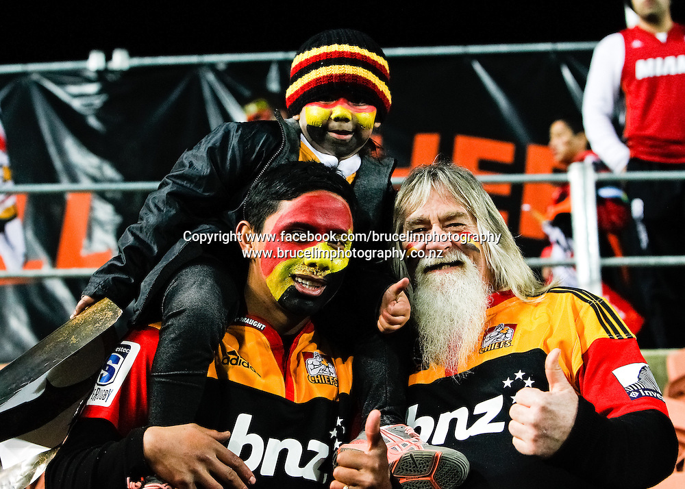 Chiefs fan during the Super 15 rugby union semi final match, Chiefs v Crusaders at Waikato Stadium, Hamilton on Saturday 27 July 2013.  Photo:  Bruce Lim / Photosport.co.nz