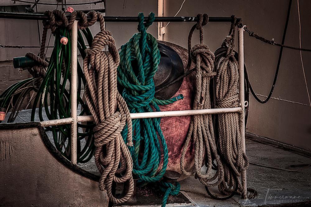 Ship ropes.