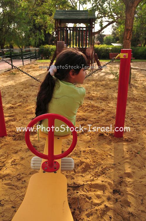 Israel, Negev desert, Omer, Public Playground