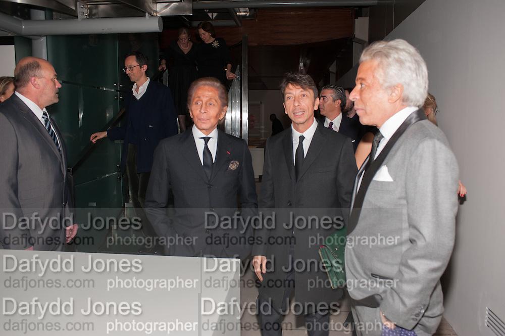VALENTINO GARAVANI; PIER PAOLO PICCIOLI; ; GIANCARLO GIAMMETTIValentino: Master of Couture - private view. Somerset House, London. 28 November 2012