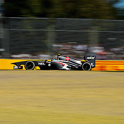 F1 Australian Grand Prix 15 March 2013 Practice Session 2.Practice Session 2. Esteban Gutierrez Sauber turn 7;.(c) MILOS LEKOVIC | StockPix.eu