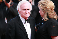 Actress Catherine Deneuve and Director John Boorman at Sils Maria gala screening red carpet at the 67th Cannes Film Festival France. Friday 23rd May 2014 in Cannes Film Festival, France.