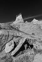 Rock formations, Bisti Badlands, Bisti/De-Na-Zin Wilderness, New Mexico USA.