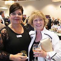 Rhonda Stroud, left, and Pat Chase pose for a photo Saturday September 20, 2014 during the 4th Annual Care Project Gala at Union Station in Wilmington, N.C. (Jason A. Frizzelle)