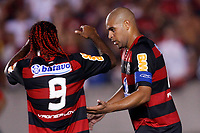 20100224: RIO DE JANEIRO, BRAZIL - Flamengo vs CD Universidad Catolica: Copa Libertadores 2010. In picture: Adriano (Flamengo) celebrating goal with Vagner Love. PHOTO: CITYFILES