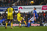 Burton Albion's Jamie Allen shoots at goal during the EFL Sky Bet Championship match between Ipswich Town and Burton Albion at Portman Road, Ipswich, England on 10 February 2018. Picture by John Potts.