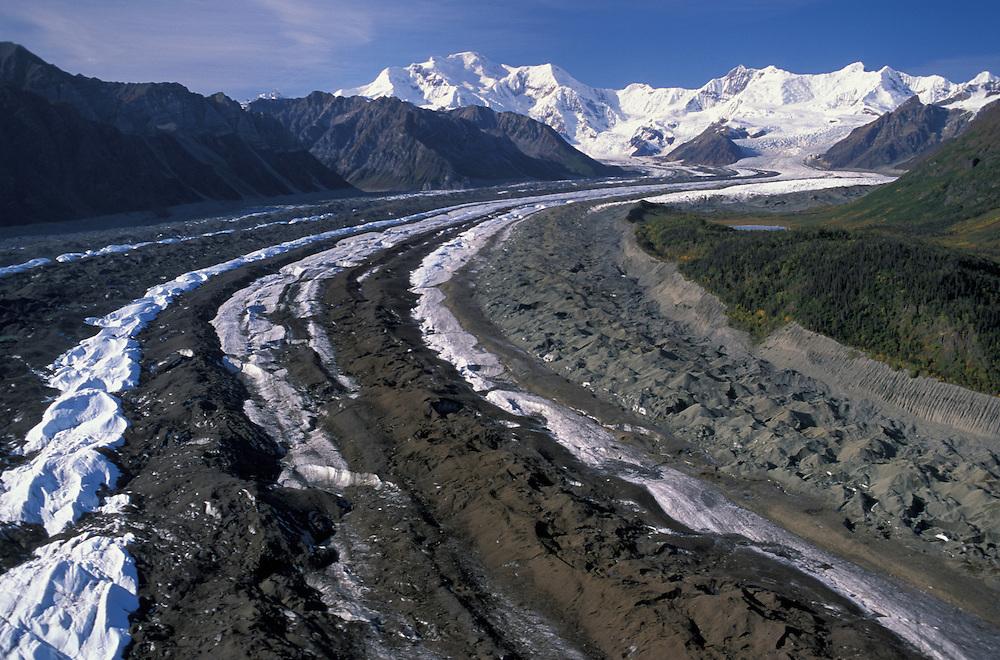 Arial View, Wrangell Mountions,, Wrangell St. Elias National Park, near town of McCarthy, Alaska, USA