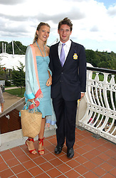 LADY ALEXANDRA GORDON-LENNOX and the HON.JAMES TOLLEMACHE at the 4th day of the 2005 Glorious Goodwood horseracing festival at Goodwood Racecourse, West Sussex on 29th July 2005.    <br />