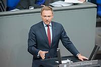 21 MAR 2019, BERLIN/GERMANY:<br /> Christian Lindner, FDP Fraktionsvorsitzender, haelt eine REde, BUndestagsdebatte zur Regierungserklaerung der Bundeskanzlerin zum Europaeischen Rat, Plenum, Deutscher Bundestag<br /> IMAGE: 20190321-01-070