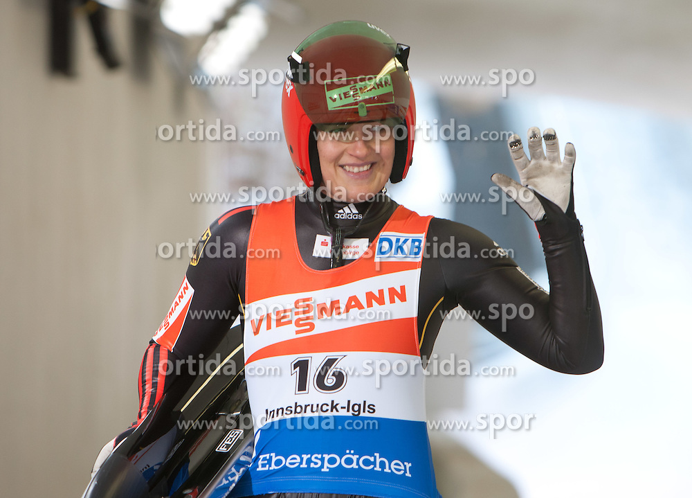 26.11.2011, Eiskanal, Igls, AUT, Viessmann Rennrodel Weltcup, Innsbruck, Damen 2. Durchgang, im Bild Anke Wischnewski (GER) // Anke Wischnewski of Germany after second run at Viessmann Luge World Cup at Olympic ice canal, Innsbruck Igls, Austria on 2011/11/26.EXPA Pictures © 2011, PhotoCredit: EXPA/ Johann Groder