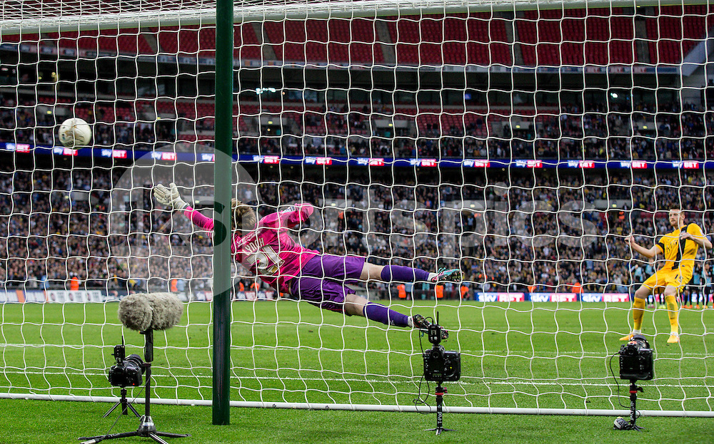 Goalkeeper Alex Lynch of Wycombe Wanderers during the Sky Bet League 2 Play-Off Final match between Southend United and Wycombe Wanderers at Wembley Stadium, London, England on 23 May 2015. Photo by Liam McAvoy.