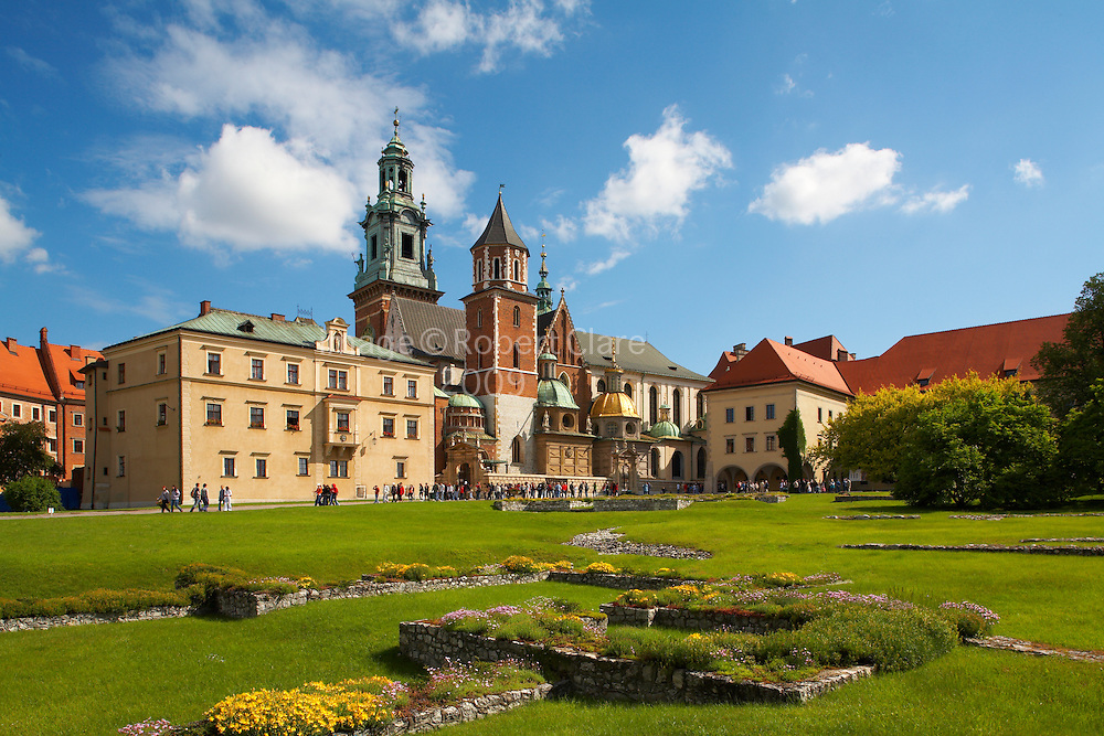 Eastern Europe Poland Malopolska Krakow Royal Wawel Cathedral