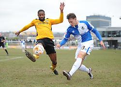 Billy Bodin of Bristol Rovers crosses the ball. - Mandatory byline: Alex James/JMP - 19/03/2016 - FOOTBALL - Rodney Parade - Newport, England - Newport County v Bristol Rovers - Sky Bet League Two