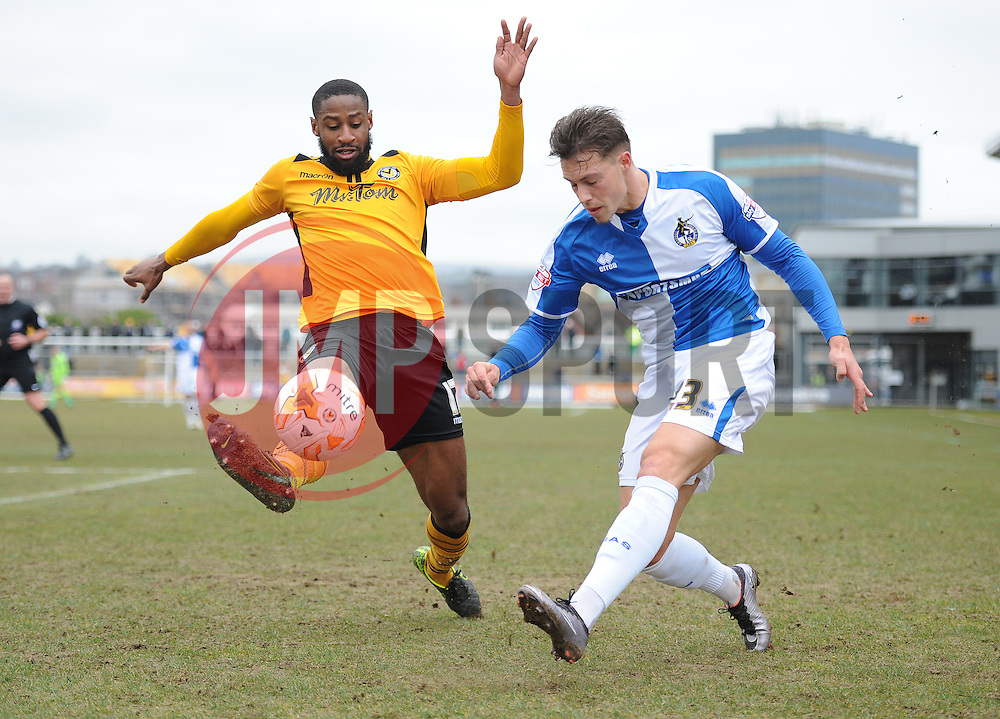Billy Bodin of Bristol Rovers crosses the ball. - Mandatory byline: Alex James/JMP - 19/03/2016 - FOOTBALL - Rodney Parade - Newport, England - Newport County v Bristol Rovers - Sky Bet League Two