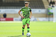 Forest Green Rovers Kyle Taylor(28),on loan from Bournemouth during the EFL Sky Bet League 2 match between Cambridge United and Forest Green Rovers at the Cambs Glass Stadium, Cambridge, England on 7 September 2019.
