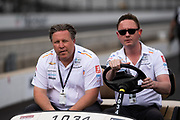 May 16-19, 2019: IndyCar qualifying for the 103rd Indianapolis 500. Zak Brown, executive chairman of Mclaren Honda F1 team, McLaren Racing, Chevrolet, McLaren Racing