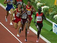Athletics, 26. august 2003, VM Paris, World Championship in Athletics,  Salif Saaeed Shaheen (1121) won 300o metres steeplechase, Number two Ezekiel Kemboi, Kenya (800)
