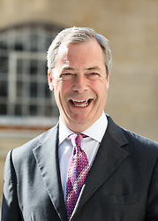Nigel Farage arrives to The Andrew Marr Show. UKIP leader Nigel Farage walks towards the BBC broasting house Sunday morning. He is one of the guests on BBC political show. Also appearing are former Lib Dem leader Lord Ashdown, Wikipedia co-founder Jimmy Wales, and Monty Python