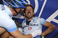 Sykkel<br /> Tour de France 2004<br /> 09.07.2004<br /> Foto: PhotoNews/Digitalsport<br /> <br /> ETAPE 06 / RIT 5  BONNEVAL / ANGERS<br /> <br /> ILLUSTRATION CHUTE VALPARTIJ BLESSURE KWETSUUR - RENE HASELBACHER