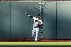 SAN FRANCISCO, CA - JUNE 12: Steven Duggar #6 of the San Francisco Giants throws to the infield during the first inning against the San Diego Padres at Oracle Park on June 12, 2019 in San Francisco, California. The San Francisco Giants defeated the San Diego Padres 4-2. (Photo by Jason O. Watson/Getty Images) *** Local Caption *** Steven Duggar