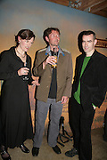 TANYA RONDER ( ADAPTED BOOK)  DBC PIERRE ( WROTE BOOK) AND ( DIRECTOR)RUFUS NORRIS,  Young Vic fundraising Gala after performance of Vernon God Little. The cut. London. 10 May 2007.  -DO NOT ARCHIVE-© Copyright Photograph by Dafydd Jones. 248 Clapham Rd. London SW9 0PZ. Tel 0207 820 0771. www.dafjones.com.