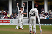 Wicket - Sam Cook of Essex successfully appeals for an lbw against Steve Davies of Somerset during the Specsavers County Champ Div 1 match between Somerset County Cricket Club and Essex County Cricket Club at the Cooper Associates County Ground, Taunton, United Kingdom on 23 September 2019.