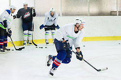 Jan Urbas during practice session with Anze Kopitar, NHL star and player of Los Angeles Kings before departure to USA, on September 3, 2014 in Ledna dvorana Bled, Slovenia. Photo by Vid Ponikvar  / Sportida.com