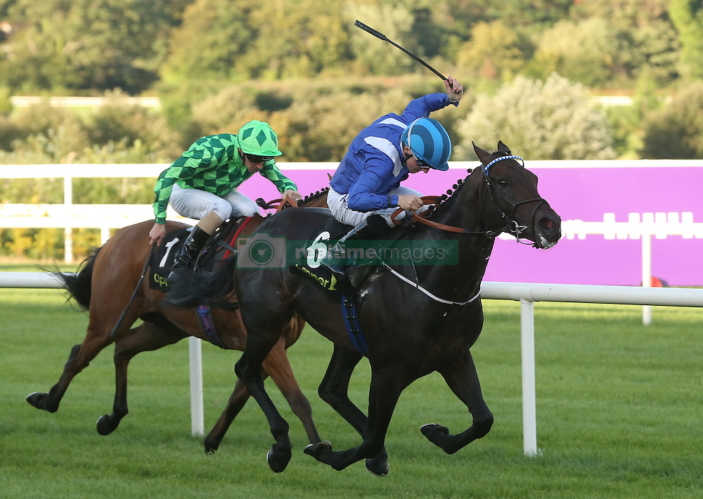 Awtaad ridden by Chris Hayes wins The Clipper Logistics Boomerang Stakes during day one of the Longines Irish Champions Weekend at Leopardstown Races.