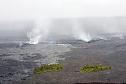 Big Island. Helicopter flight over Hawai'i Volcanoes National Park, in an Eurocopter AS350 Ecureuil (AStar). The lava flow of Kilauaea's Pu'u O'o Crater, active since 1983.