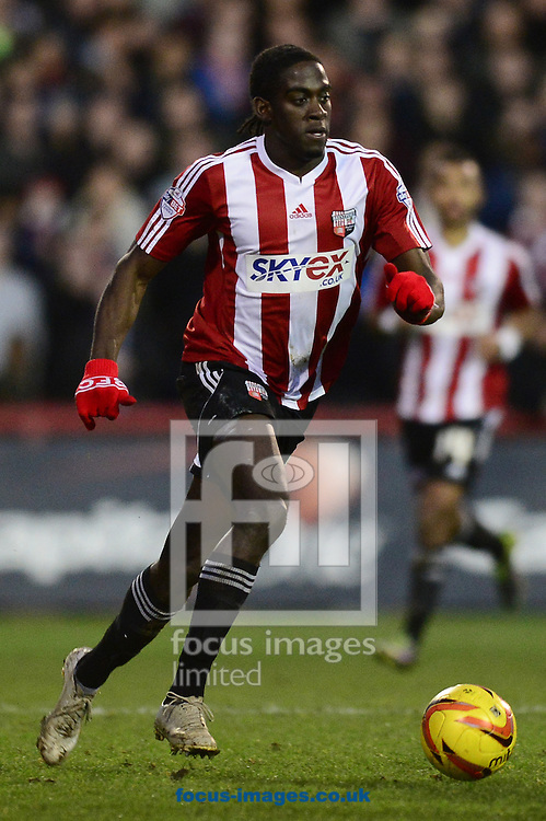 Picture by Alex Broadway/Focus Images Ltd +44 7905 628183<br /> 11/01/2014<br /> Clayton Donaldson of Brentford in action during the Sky Bet League 1 match at Griffin Park, London.