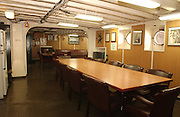 The officers ward room is one of the areas visitors can view while on a public tour of the Icebreaker Mackinaw Maritime Musem in Mackinaw City, Michigan