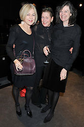 Left to right, GILLIAN DE BONO, JOAN ROLLS and SUSAN FARMER at a party to celebrate the publication of The Impossible Collection of Jewelry by Vivienne Becker hosted by Assouline and Bulgari at the Bulgari Hotel, 171 Knightsbridge, London on 17th January 2013.