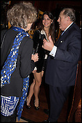 LINDY DUFFERIN OF AVA; LOHRALEE ASTOR; DAVID KER, Ralph Lauren host launch party for Nicky Haslam's book ' A Designer's Life' published by Jacqui Small. Ralph Lauren, 1 Bond St. London. 19 November 2014
