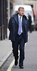 © London News Pictures. 16/11/2011. London, UK. Chelsea Football Club owner Roman Abramovich arriving at The Royal Courts Of Justice today (16/11/2011) to give evidence. Russian Oligarch Boris Berezovsky has started a £3.2 billion lawsuit at the High Court in a battle over Abramovich's £10.3 billion fortune. Photo credit: Ben Cawthra/LNP