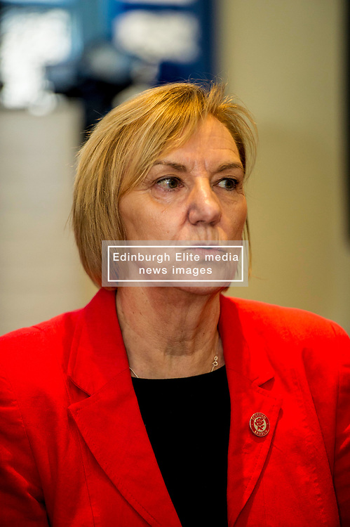 Pictured: Joan Griffiths, Chair of Scottish Labour Group<br /> Scottish Labour deputy leader Alex Rowley was joined by Edinburgh City Council leader Andrew Burns at the Serenity Cafe in Edinburgh today to launch the party's local government election manifesto. <br /> Ger Harley | EEm 21 March 2017