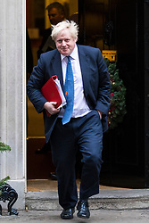 © Licensed to London News Pictures. 05/12/2017. London, UK. Foreign Secretary Boris Johnson leaves 10 Downing Street after the weekly Cabinet meeting. Photo credit: Rob Pinney/LNP