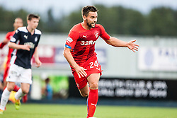 Rangers Derek McGregor. Falkirk 0 v 2 Rangers, Scottish Championship game played 15/8/2014 at The Falkirk Stadium.
