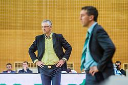 Head coach Ivan Velic of KK Krka Novo mesto during basketball match between KK Krka Novo mesto and KK Tajfun Sentjur at Superpokal 2015, on September 26, 2015 in SKofja Loka, Poden Sports hall, Slovenia. Photo by Grega Valancic / Sportida.com