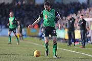 Scunthorpe United captain Rory McArdle (23) during the EFL Sky Bet League 1 match between Bristol Rovers and Scunthorpe United at the Memorial Stadium, Bristol, England on 24 February 2018. Picture by Gary Learmonth.