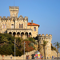 Cruz Fort on Tamariz Beach in Estoril, Portugal<br />