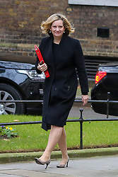 © Licensed to London News Pictures. 15/01/2019. London, UK. Amber Rudd - Secretary of State for Work and Pensions arrives in Downing Street for the weekly Cabinet meeting. Later today, after five days of debate in the House of Commons, MPs will vote on the British Prime Minister Theresa May's EU Withdrawal deal. Photo credit: Dinendra Haria/LNP