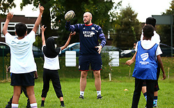 Bristol Sport and Bristol Energy launch their partnership at Millpond School with help from Joe Latta of Bristol Rugby - Mandatory by-line: Robbie Stephenson/JMP - 09/10/2017 - SPORT - Millpond School - Bristol, England - Bristol Sport and Bristol Energy Partnership Launch