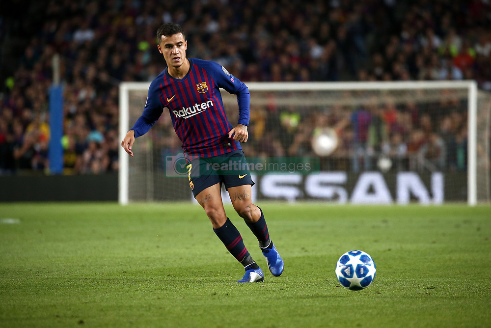October 24, 2018 - Barcelona, Spain - Philippe Coutinho during the match between FC Barcelona and Inter, corresponding to the week 3 of the group stage of the UEFA Champions Leage, played at the Camp Nou Stadium, on 24th October 2018, in Barcelona, Spain. (Credit Image: © Joan Valls/NurPhoto via ZUMA Press)