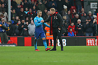 Football - 2017 / 2018 Premier League - AFC Bournemouth vs. Arsenal<br /> <br /> Bournemouth's Manager Eddie Howe shakes hands with Jack Wilshere of Arsenal after the final whistle at Dean Court (Vitality Stadium) Bournemouth <br /> <br /> COLORSPORT/SHAUN BOGGUST
