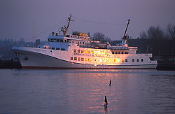 GERMANY SCHLESWIG-HOLSTEIN ECKERNFOERDE APR98 - The ferry boat 'Fair Lady' lies moored in the harbour of the Baltic town of Eckernfoerde...    ..jre/Photo by Jiri Rezac....© Jiri Rezac 1998