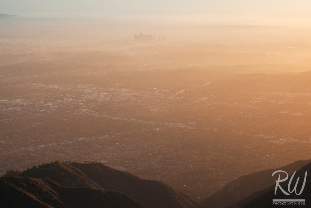 Los Angeles Sunset View From Mount Wilson Observatory, Angeles National Forest, California