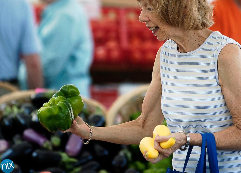 The North Carolina Research Campus farmers market in Cannon Village