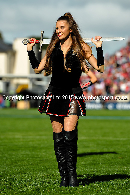 A maiden during the Super Rugby match: Crusaders v Lions at AMI Stadium, Christchurch, New Zealand, 14 March 2015. Copyright Photo: John Davidson / www.Photosport.co.nz
